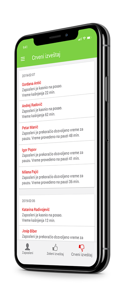 evidencija radnog vremena my work mobilna aplikacija