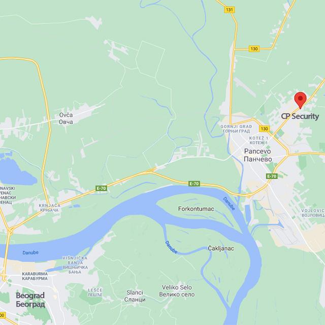 CP-Security-sedište kompanije - Google mape